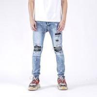 M1 batik Light on splatter - celana jeans - 28
