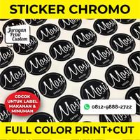 Sticker Label A3 Chromo Full Color | Print Custom Botol Makanan Produk