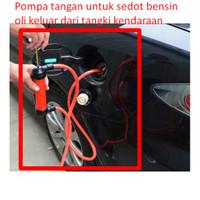 Pompa tangan untuk sedot bensin oli keluar dari tangki kendaraan