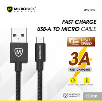 MicroPack USB A to micro USB cable 1,5 Meter MC-315