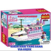 BRICK COGO 4508 DREAM GIRLS YATCH KAPAL PESIAR