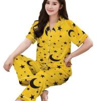 Piyama CP - Star Moon 02 - Katun Jepang / Baju Tidur Wanita Dewasa