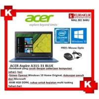 ACER ASPIRE A311-31-N4000-4GB-500GB-WIN10 BLUE - BEC5