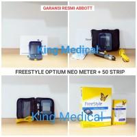 FreeStyle Optium Neo + Strip isi 50 alat cek gula darah & ketone