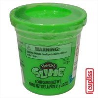 Play Doh Slime Single Can 3.2 OZ Green 91 Gr PlayDoh Original Compound