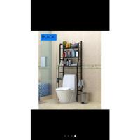 Rak Toilet Organizer WC Tissue Sabun Kloset Kamar Mandi/ Rak Serbaguna - Hitam