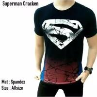 Kaos SUPERMAN CRACK / kaos Superhero super hero pria / baju distro