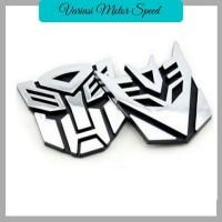 Emblem / Logo / Stiker 3D Transformers Autobot - Decepticon terlaris
