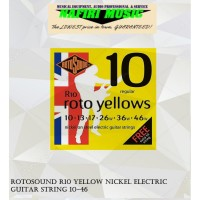 Rotosound R10 Yellow Nickel Electric Guitar String 10-46