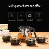 Set 5 in 1 Tea pot, Teko kaca dengan saringan