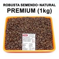 Kopi biji sangrai. Robusta Semendo premium petik merah (1kg)