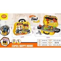 Mainan Anak Mainan 2in1 Tool Carpenter 23 pcs Happy Hour 688-65A