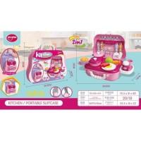 Mainan Alat Mainan Kitchen Portable Suitcase 2in1 21 pcs PINK 688-6