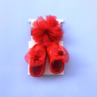Bandana Set Bayi / Gift Set Kaos Kaki & Headband / Newborn Anak - ECO3 - SET A