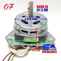 Dinamo Wash TEMBAGA Kaki 3 Mesin Cuci Umum AS 12 MM/Motor Pencuci