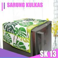 Sarung Kulkas Cover Kulkas Motif Bunga