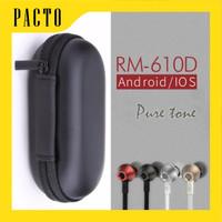 PAKET REMAX 610D / EARPHONE REMAX 610D + POUCH LONJONG TERMURAH!!