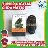(BEST SELLER) Tuner Gitar Digital Chromatic Clip On Tuner Musedo T-26
