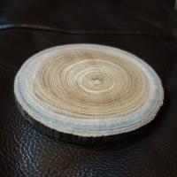 potongan kayu / tatakan gelas / coaster / wood slice diameter 8 -11cm