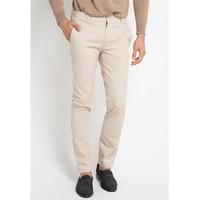 EDITION MEN ECT10 SAND Celana Panjang Woven Chinos Pant Slim Fit