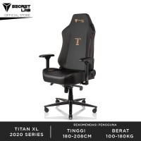 Secretlab TITAN XL 2020 Series PRIME PU Leather Kursi Gaming - Stealth
