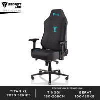 Secretlab TITANXL 2020 Softweave Fabric Gaming Chair - Charcoal Blue