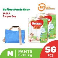Huggies Gold Pants Popok Celana M 56 2 Pack Free Diaper Bag