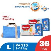 Huggies Dry Pants Popok Celana L 36 2 Pack Free Diaper Bag