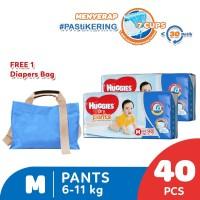 Huggies Dry Pants Popok Celana M 40 2 Pack Free Diaper Bag