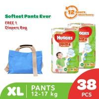 Huggies Gold Pants Popok Celana XL 38 2 Pack Free Diaper Bag