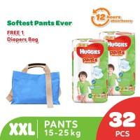 Huggies Gold Pants Popok Celana XXL 32 2 Pack Free Diaper Bag