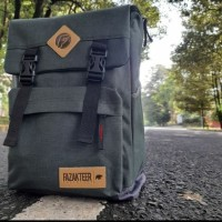 Tas ransel denim double protection_abu-abu