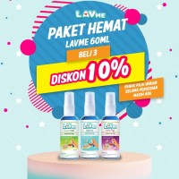 Lavme Hand Sanitizer Anti Virus Organic 60ml - 3 Pcs Disc 10%
