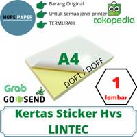 Kertas Stiker HVS A4 - 1pcs / Kertas Stiker / Sticker HVS Doff