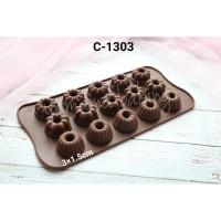 C-1303 Cetakan silikon coklat puding mini chiffon cake fondant