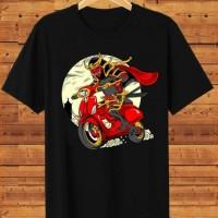T-shirt Samurai Vespa / Baju Kaos Distro Pria Wanita Cotton 30s