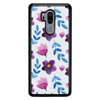 Casing LG G7 ThinQ Case Violet Flowers L3456