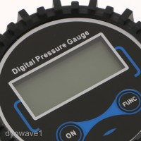 Plug Digital Tire Inflator Pressure Gauge 200 PSI Quick-Connected