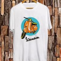 T-shirt Brown Vespa / Baju Kaos Distro Pria Wanita Cotton 30s