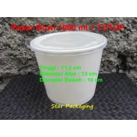 Paper Bowl / Mangkok Kertas 1000 ML Isi 50pcs + TUTUP