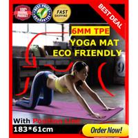Matras Yoga TPE 6mm / PREMIUM ECO yoga mat 183*61cm GRATIS TAS YOGA