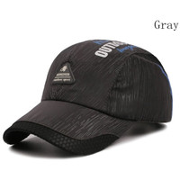 Baseball cap : OUTDOOR SPORT - Topi Baseball Topi Quick Dry - DARK GRAY