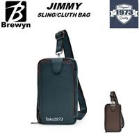 BREWYN BLACK LABEL Premium PU leather sling / clutch bag JIMMY