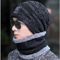 Winter cap & syal : RAIKONEN - knit caps topi musim dingin topi kupluk