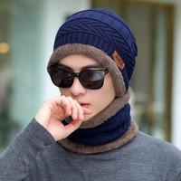 Winter cap & syal : ROBIN - knit caps beanie topi musim dingin kupluk