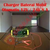 Charger Baterai Mobil Elektronik Otomatis 12V / 24V 8 Amp - MALANG
