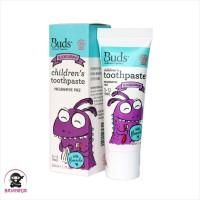 BUDS Organics Childrens Toothpaste 3 to 12 Tahun Blackcurrant 50 ml