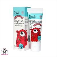 BUDS Organics Childrens Toothpaste 3 to 12 Tahun Strawberry 50 ml