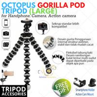 Octopus Gorilla Tripod with Mount Gorillapod for Camera, Hp, GoPro