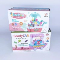 Kado Mainan Anak Perempuan Mini Ice Cream Cart / Mini Sweet Cart
